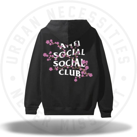 ASSC Anti Social Social Club Cherry Blossum Black Hoodie-Urban Necessities