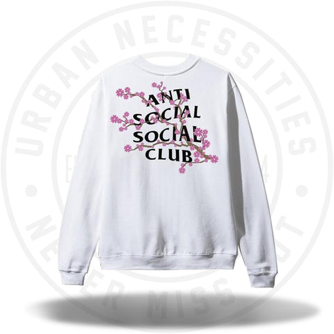 ASSC Anti Social Social Club Cherry Blossum White Crewneck-Urban Necessities