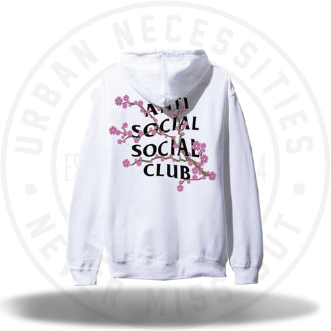 ASSC Anti Social Social Club Cherry Blossum White Hoodie-Urban Necessities
