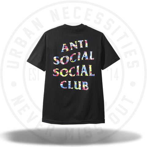 ASSC Anti Social Social Club Flag Black Tee-Urban Necessities
