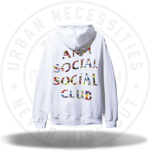 ASSC Anti Social Social Club Flag White Hoodie-Urban Necessities