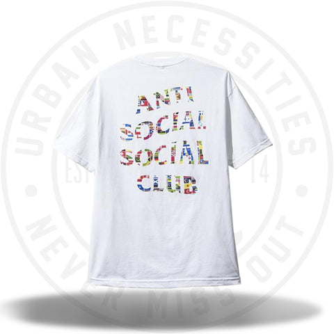 ASSC Anti Social Social Club Flag White Tee-Urban Necessities
