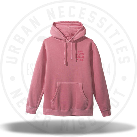 ASSC Anti Social Social Club Ghosted Pink Tonal Hoodie-Urban Necessities