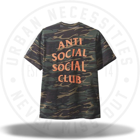 ASSC Anti Social Social Club Green Ghost Camo Tee-Urban Necessities