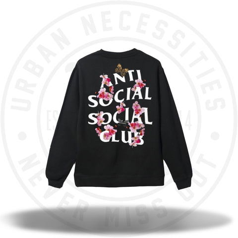 ASSC Anti Social Social Club Kkoch Black Crewneck-Urban Necessities