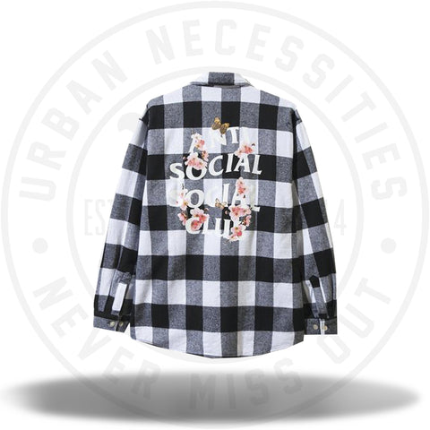 ASSC Anti Social Social Club Kkoch Flannel White-Urban Necessities