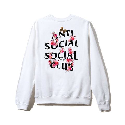 ASSC Anti Social Social Club Kkoch White Crewneck-Urban Necessities