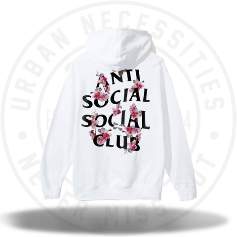 ASSC Anti Social Social Club Kkoch White Zip Hoody-Urban Necessities
