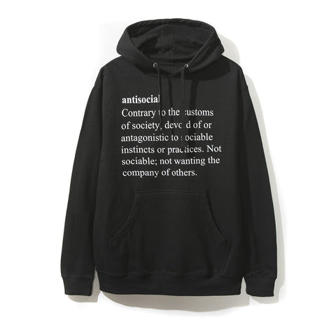 ASSC Anti Social Social Club Meanings Black Hoodie-Urban Necessities