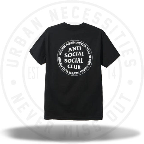ASSC Anti Social Social Club Never Again Never You Black Tee-Urban Necessities