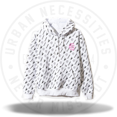 ASSC Anti Social Social Club Playboy White Label Hoodie White-Urban Necessities
