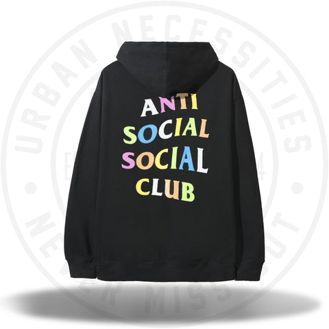 ASSC Anti Social Social Club Rainbow Black Hoodie-Urban Necessities