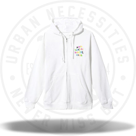 ASSC Anti Social Social Club Rainbow Hoodie White-Urban Necessities