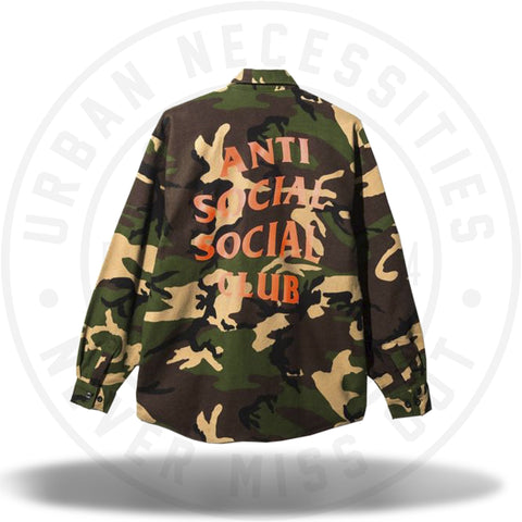 ASSC Anti Social Social Club Sunkist Camo Flannel-Urban Necessities