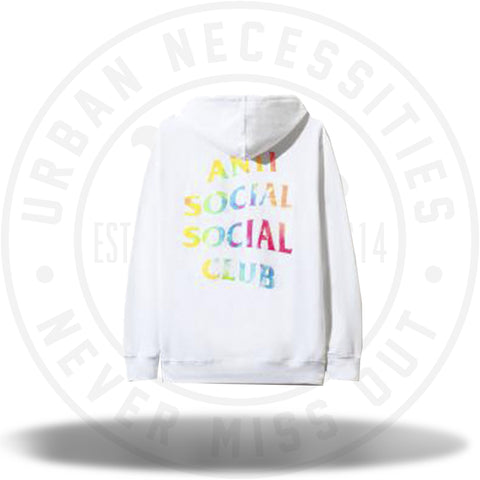 ASSC Anti Social Social Club Thai Dye White Hoodie-Urban Necessities