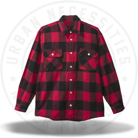 ASSC Anti Social Social Club Trip Flannel Red/White Outline-Urban Necessities