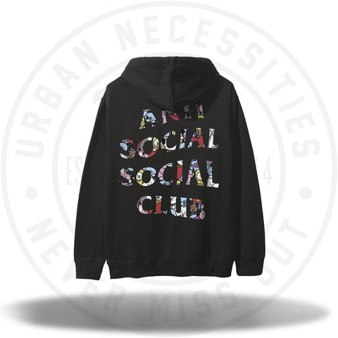 ASSC Anti Social Social Club x BT21 Club Blended Hoodie Black-Urban Necessities