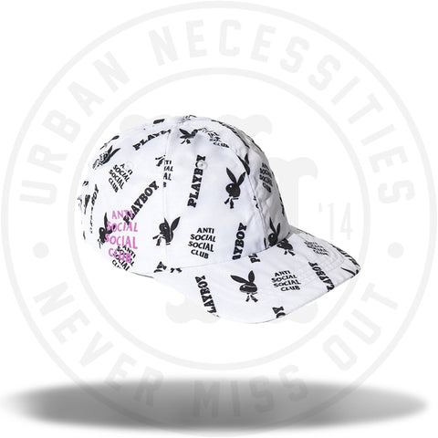 ASSC Anti Social Social Club x PLayboy All Over Cap White-Urban Necessities