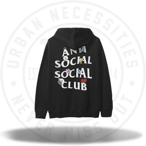 ASSC X BT21 Collab - Peekaboo Black Hoodie-Urban Necessities