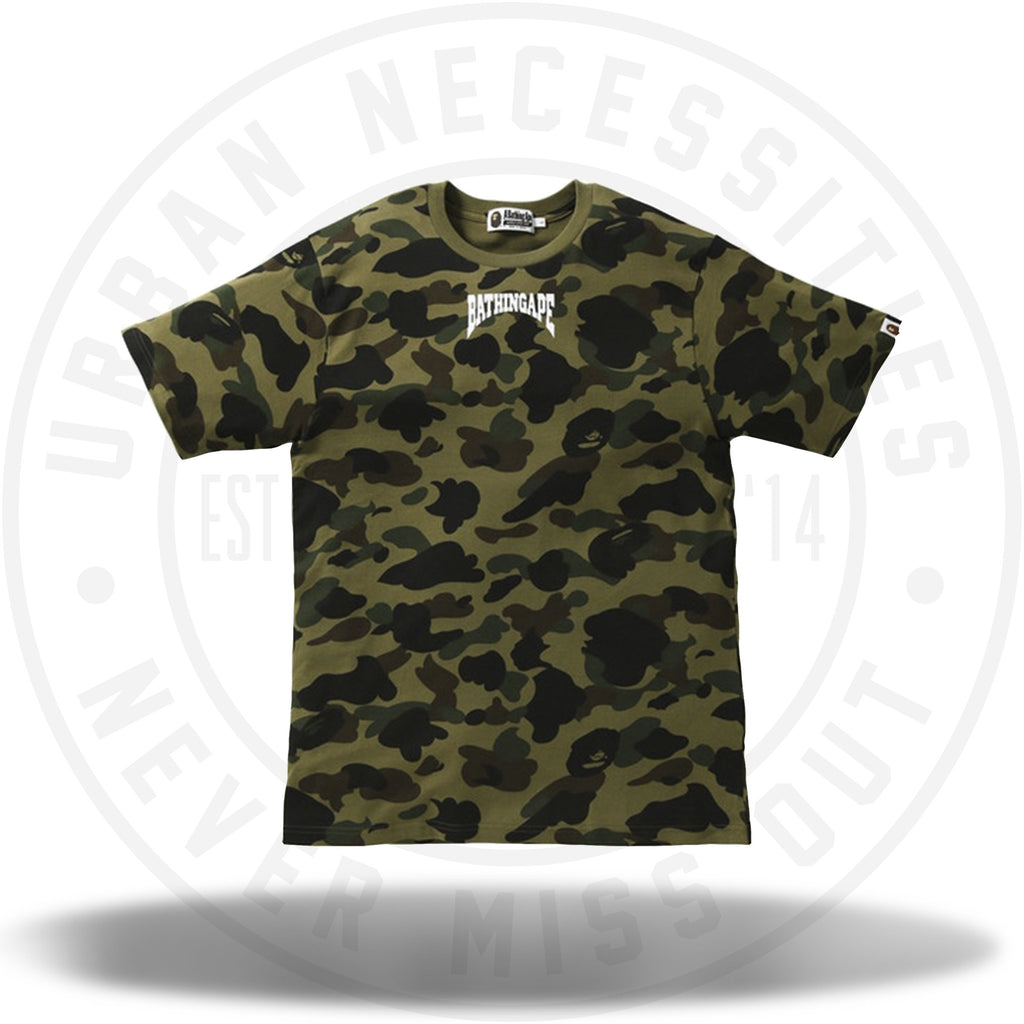 BAPE 1st Camo Bathing Ape Head Tee Green-Urban Necessities