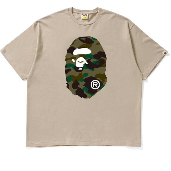 Bape 1st Camo Big Ape Head Tee Beige-Urban Necessities