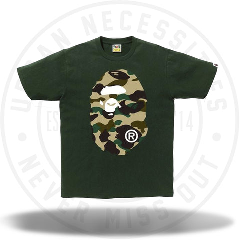 Bape 1st Camo Big Ape Head Tee Green-Urban Necessities