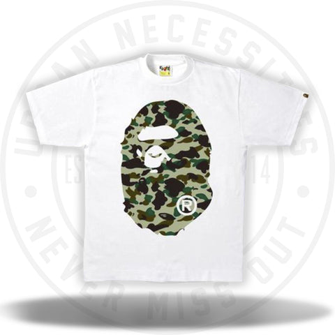 Bape 1st Camo Big Ape Head Tee White-Urban Necessities