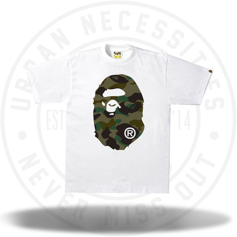 7029df0d BAPE 1st Camo Big Ape Head Tee White/Green-Urban Necessities