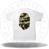 Bape 1st Camo Big Ape Head Tee White/Yellow-Urban Necessities