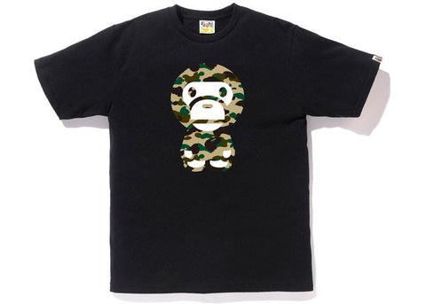 BAPE 1st Camo Big Baby Milo Tee Black/Yellow-Urban Necessities
