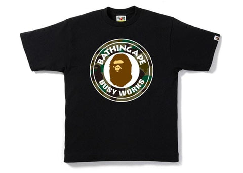 BAPE 1st Camo Busy Works Tee Black/Green-Urban Necessities