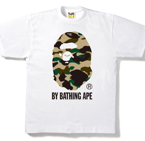 Bape 1st Camo By Bathing Ape Tee Yellow Camo White-Urban Necessities