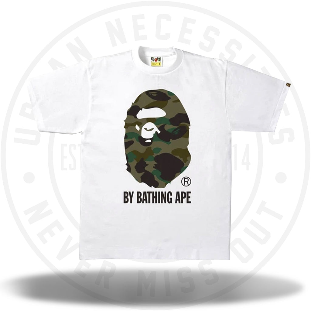 BAPE 1st Camo by Bathing Tee White/Green-Urban Necessities