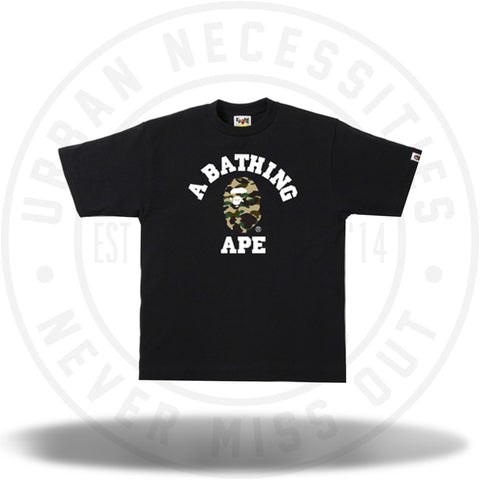 b7472066 BAPE 1st Camo College Tee Black/Yellow Camo-Urban Necessities