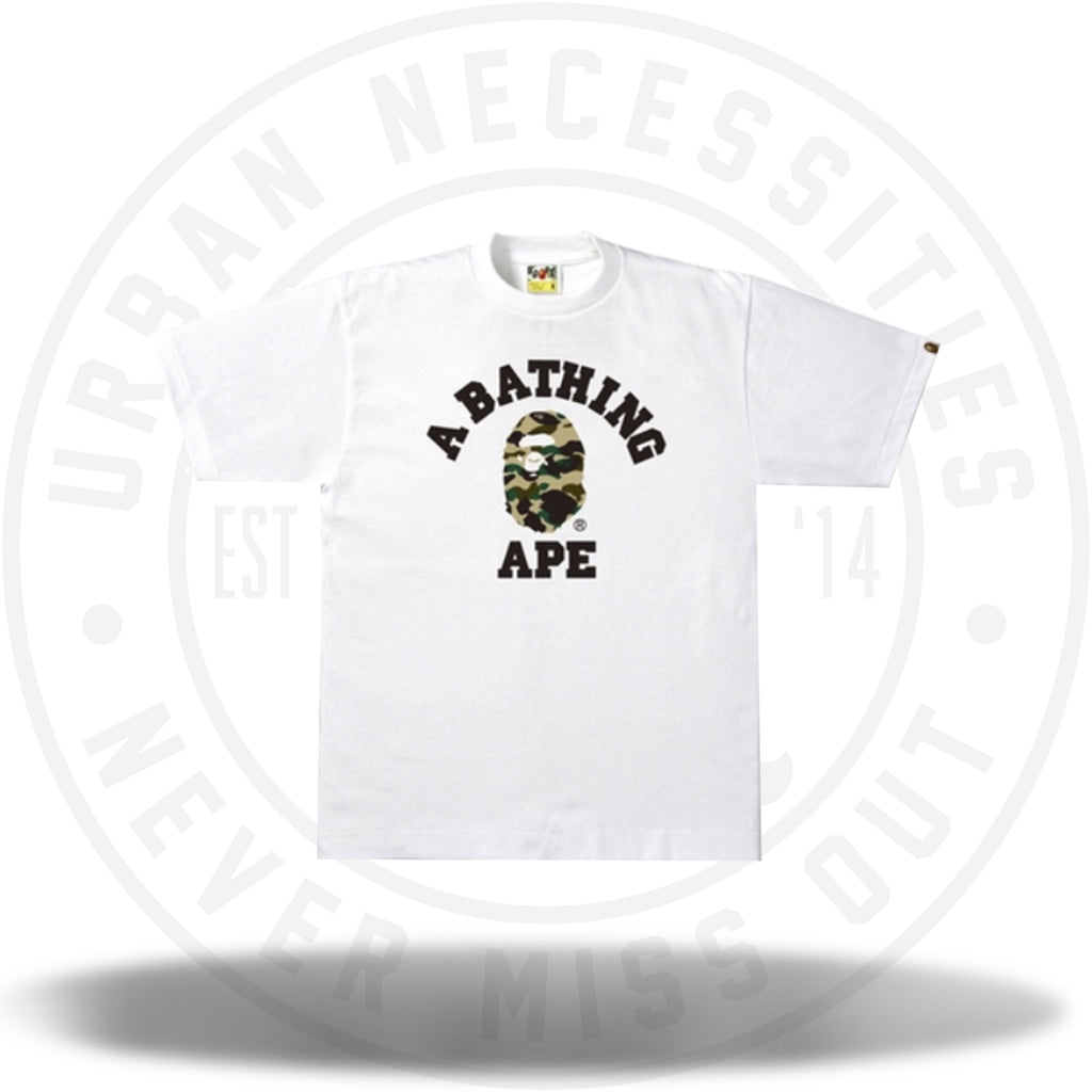 Bape 1st Camo College Tee White/Yellow-Urban Necessities