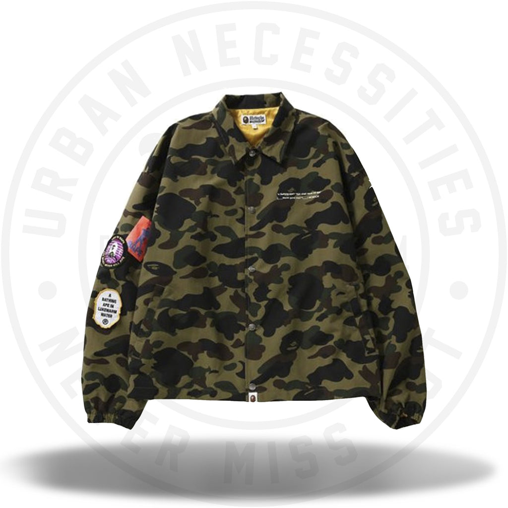 BAPE 1st Camo Relaxed Coach Jacket Green-Urban Necessities