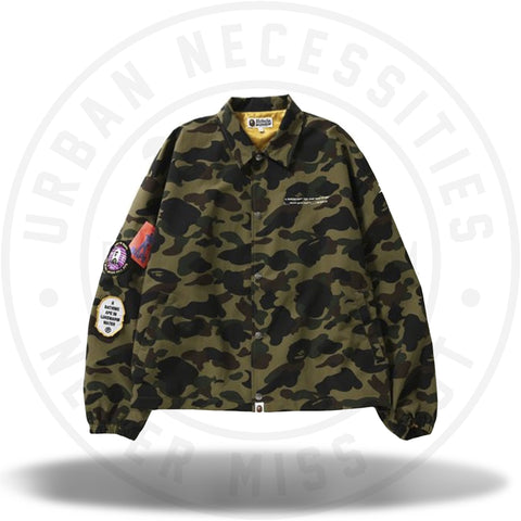 fb08acd0823 BAPE 1st Camo Relaxed Coach Jacket Green-Urban Necessities