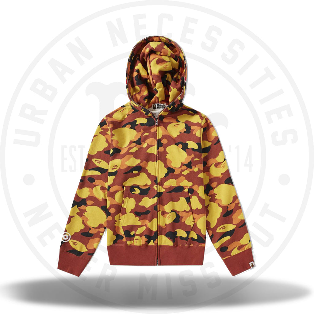 Bape 1st Camo Shark Full Zip Hoodie Orange-Urban Necessities