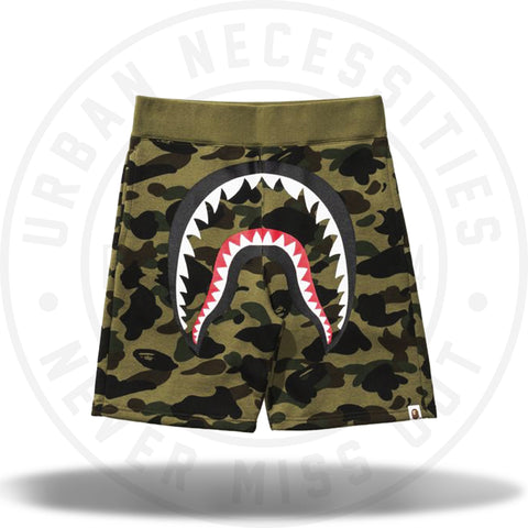 Bape 1st Camo Shark Sweat Short Green-Urban Necessities