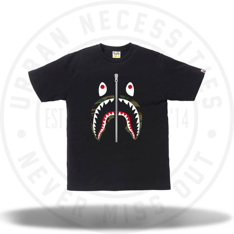 Bape 1st Camo Shark Tee Black-Urban Necessities