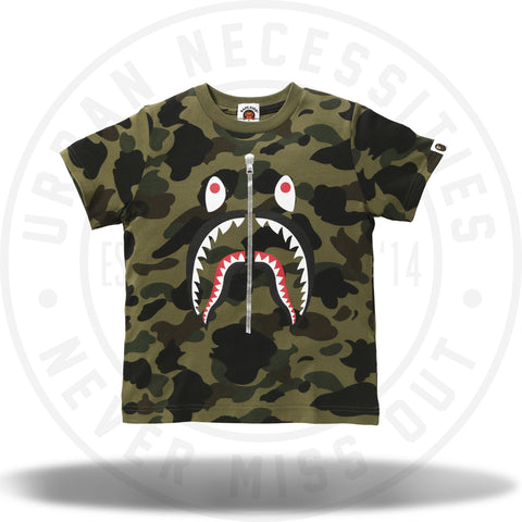 Bape 1st Camo Shark Tee Green-Urban Necessities