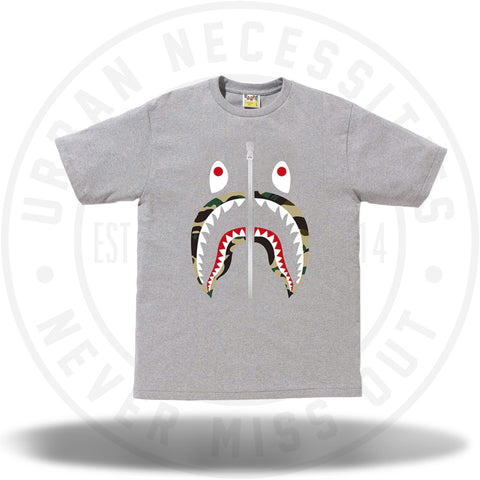 Bape 1st Camo Shark Tee Grey/Yellow-Urban Necessities