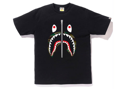 Bape 1st Camo Shark Tee Tee Black/Green-Urban Necessities
