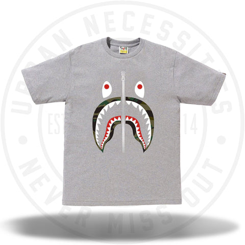 BAPE 1st Camo Shark Tee Tee Grey/Green-Urban Necessities