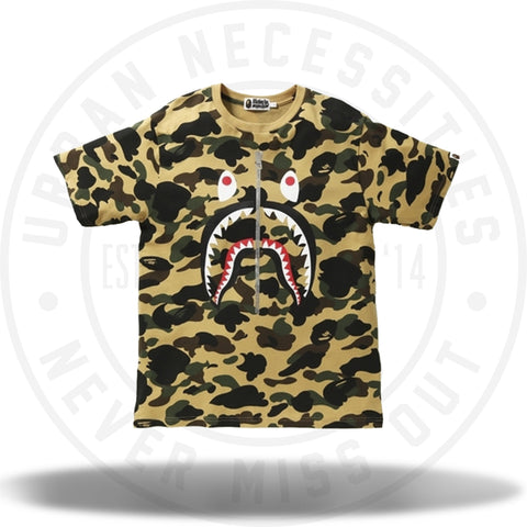 Bape 1st Camo Shark Tee Yellow-Urban Necessities