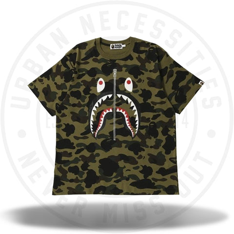 BAPE 1st Camo Shark Wide Tee Green-Urban Necessities