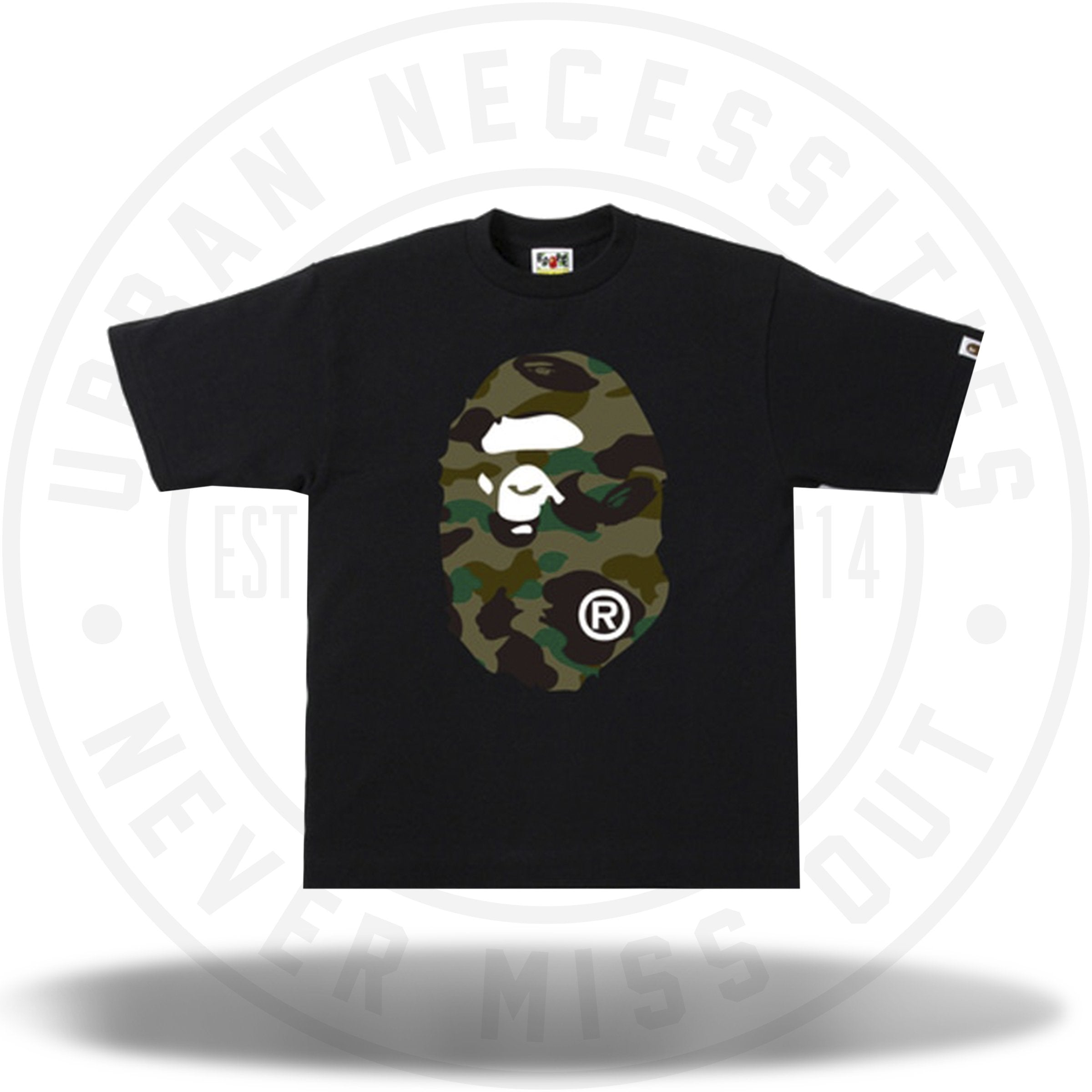 BAPE 1st Camo Side Big Ape Head Black/Green