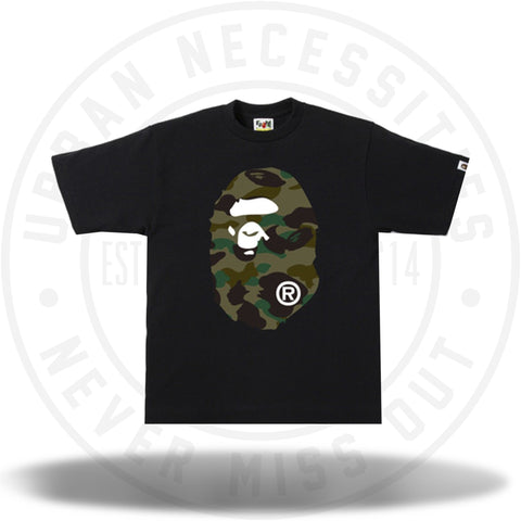 BAPE 1st Camo Side Big Ape Head Black/Green-Urban Necessities