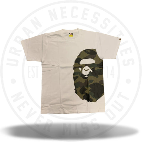 Bape 1st Camo Side Big Ape Head Tee White/Green-Urban Necessities