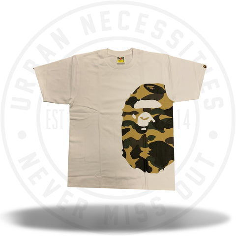 Bape 1st Camo Side Big Ape Head Tee White/Yellow-Urban Necessities